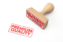 Wooden Rubber Stamp with Premium Quality Sign Royalty Free Stock Images