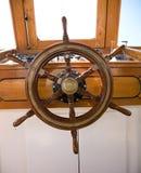 Wooden rudder Stock Photo