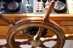 Wooden rudder. In a ship Royalty Free Stock Photography