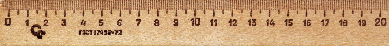 Wooden ruler Royalty Free Stock Image
