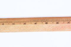 Wooden ruler Royalty Free Stock Photography