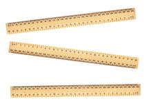 Wooden Ruler Royalty Free Stock Photos
