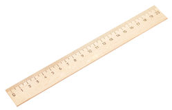 Wooden ruler Stock Photography