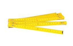 Wooden ruler Stock Image
