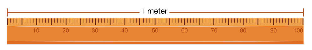 Wooden ruler with measurement in meter Stock Photography