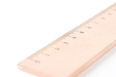 A wooden ruler with a white ba Stock Photography