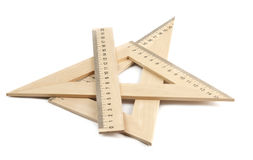 Wooden rulers Royalty Free Stock Photos