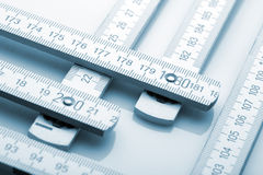 Wooden rulers Stock Photo