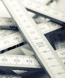 Wooden rulers Stock Image