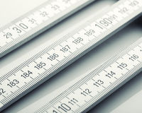 Wooden rulers Royalty Free Stock Photography