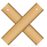 Wooden rulers icon Royalty Free Stock Photography