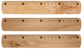 Wooden rulers isolated Royalty Free Stock Photos