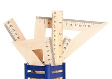 Wooden rulers Royalty Free Stock Images