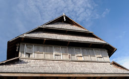 Wooden Rumah Istana Sumbawa palace of the sultan in the Sumbawa Besar town in Indonesia Royalty Free Stock Images