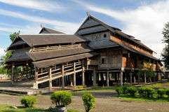 Wooden Rumah Istana Sumbawa palace of the sultan in the Sumbawa Besar town in Indonesia Royalty Free Stock Image