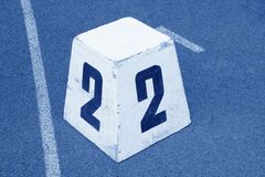 Wooden runway number card Royalty Free Stock Images