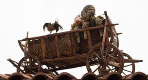 Wooden rural cart Stock Image