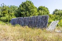Wooden rural fence Stock Photos