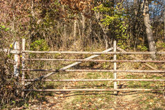 Wooden rural gate Royalty Free Stock Images