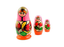 Wooden Russia matryoshka dolls Stock Images