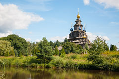 Wooden Russian church Stock Photos