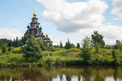Wooden Russian church Royalty Free Stock Image