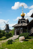 Wooden Russian church Stock Images