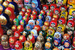 Wooden Russian dolls Royalty Free Stock Photo