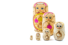 Wooden russian dolls Stock Photos