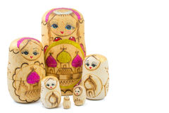 Wooden russian dolls Stock Photo