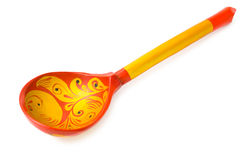 Wooden Russian Khokhloma spoon Stock Image