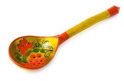 Wooden Russian Khokhloma spoon Royalty Free Stock Photography