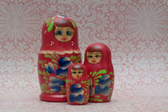 Wooden Russian Matryoshka Dolls Stock Photography
