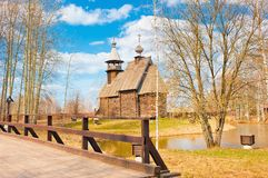 Wooden Russian Orthodox church Royalty Free Stock Photo