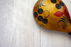 Wooden Russian spoon Stock Photo