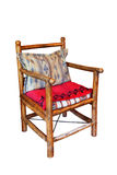 Wooden rustic armchair Stock Images