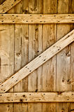 Wooden rustic barn door detail.