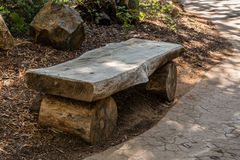 Wooden rustic bench Stock Photos