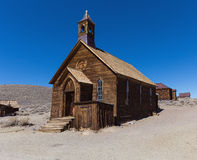 Wooden rustic church building in Bodie ghost town Stock Images
