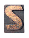 Wooden S typeface Stock Images