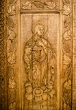 Wooden sacred icon Stock Images