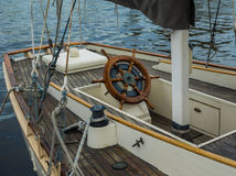 Wooden sailboat Stock Images