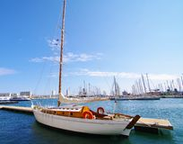 Wooden sailing boat Royalty Free Stock Images