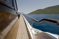 Wooden Sailing Boat Stock Image