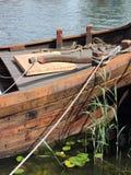 Wooden sailing boat detail Royalty Free Stock Image