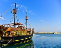 Wooden sailing ship Stock Photo