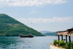 Wooden sailing ship. Montenegro, Bay of Kotor Royalty Free Stock Image