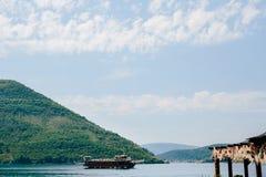 Wooden sailing ship. Montenegro, Bay of Kotor Stock Image