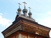 A wooden Saint George church, Kolomenskoye, Moscow. stock photos