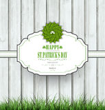 Wooden Saint Patrick's Background Stock Photos